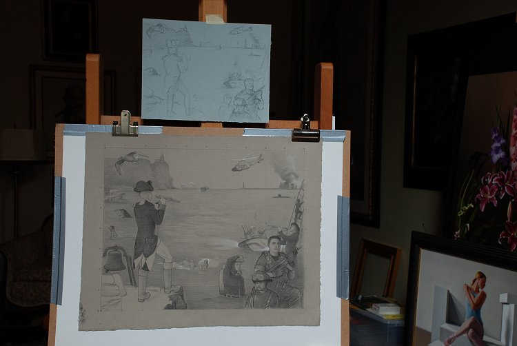 Coast Guard sketches and studies in the studio by Charles Gilbert Kapsner