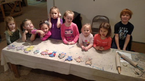 Goofy Faces from Goofy Pre-Schoolers with their owl projects!