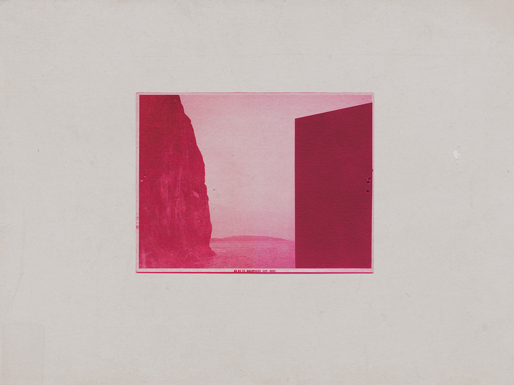 UNTITLED(MAGENTA FORM) Photo Transfer and Acrylic on Panel, 16 x 20 inches