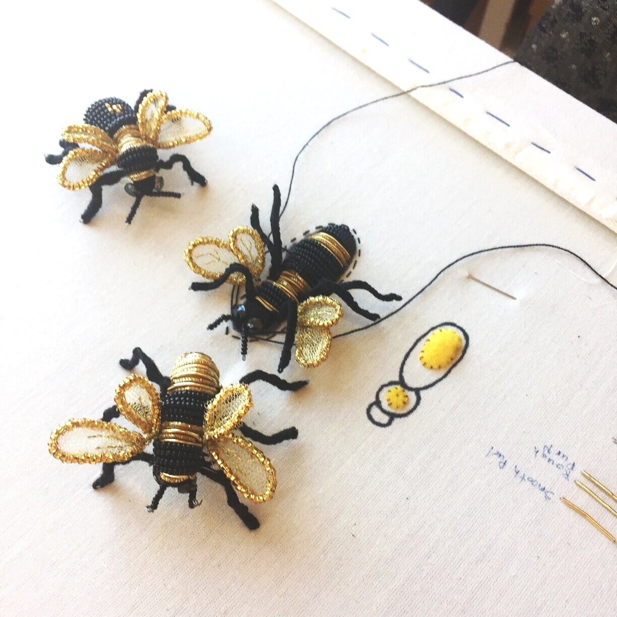 """Bees from the 2019 """"Gold-work"""" class"""