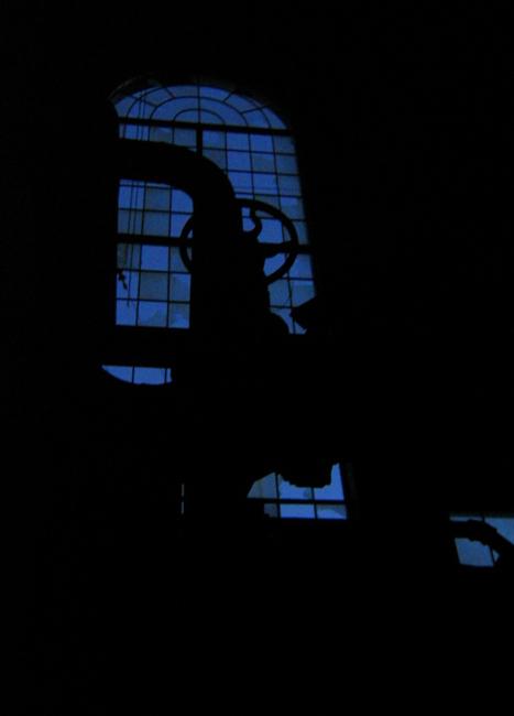 Power Plant Window at Night