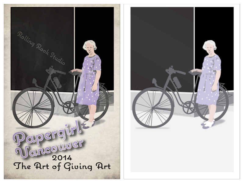 """Poster for Papergirl Vancouver (right) size 11.25"""" x 17.3"""""""
