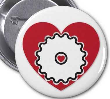 Cyclist @ Heart Button