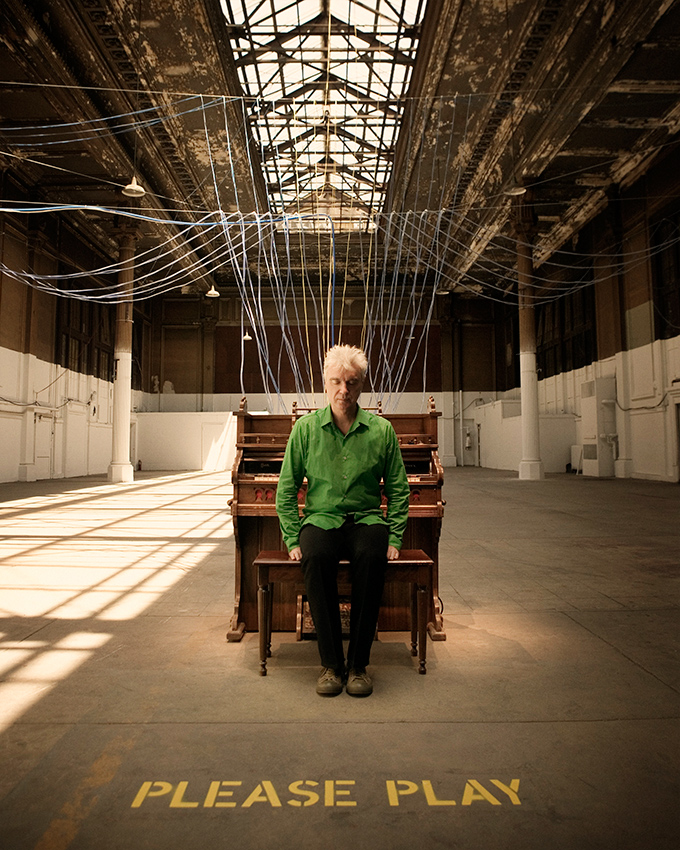 "David Byrne, at his installation ""Playing the Building"" NYC"