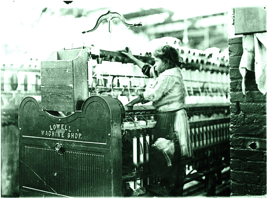 Hine, Lewis W.  Little Spinner in Bibb Mill No. 1, Macon, Ga.  1909. Preus Museum. Public domain via Wikimedia Commons.