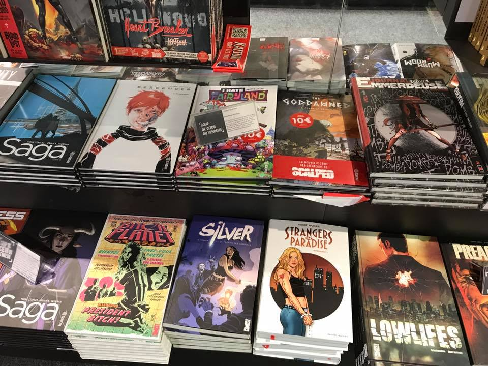 French Silver spotted at FNAC (France's largest bookstore chain), and in great company.