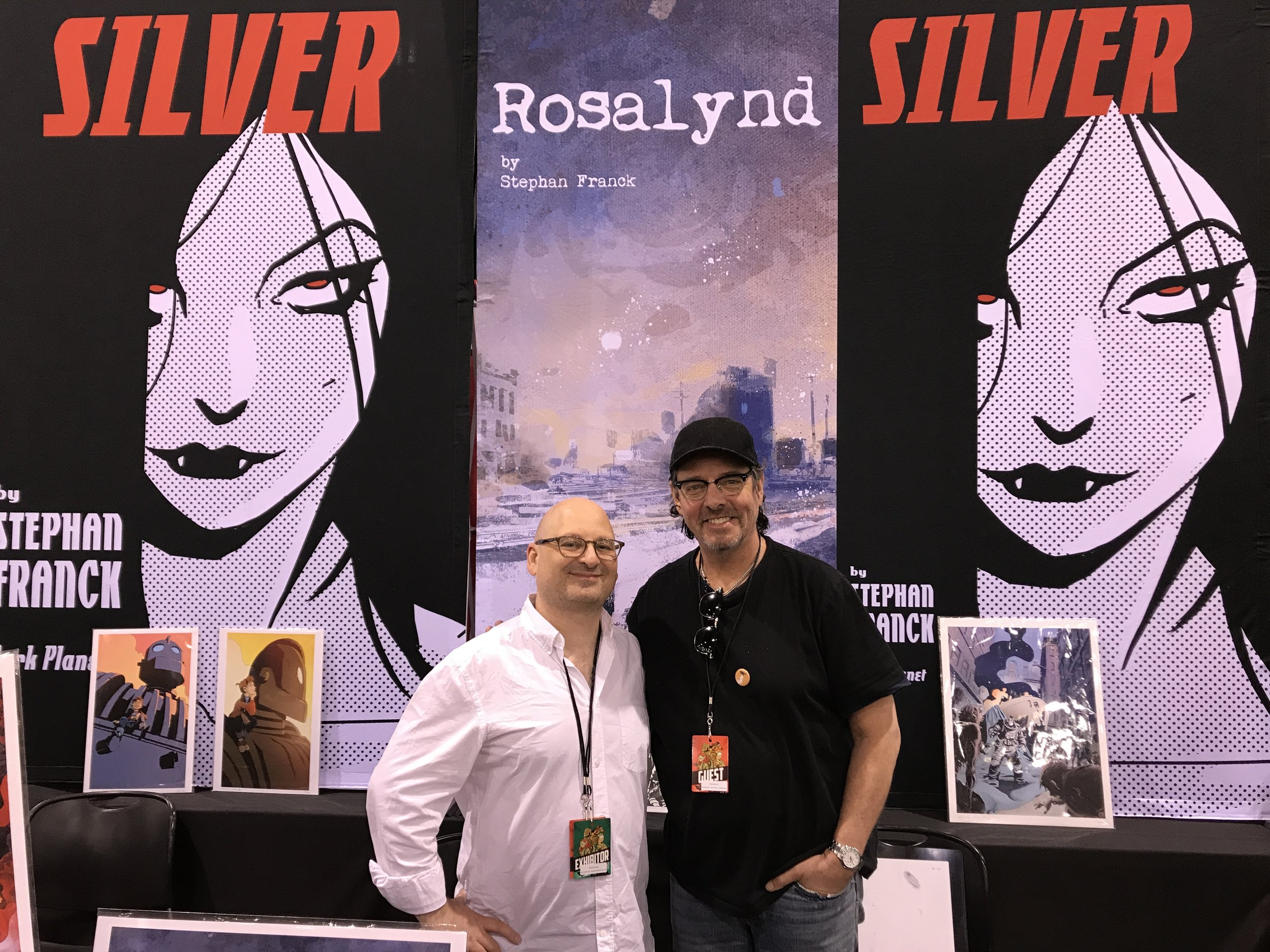 Stephan and Tim Sale hanging out at Phoenix Comic Fest 2018.
