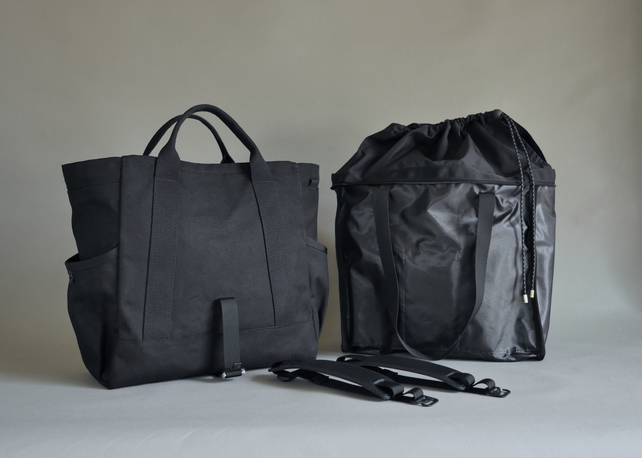 Liner fully removed - two bags in one.