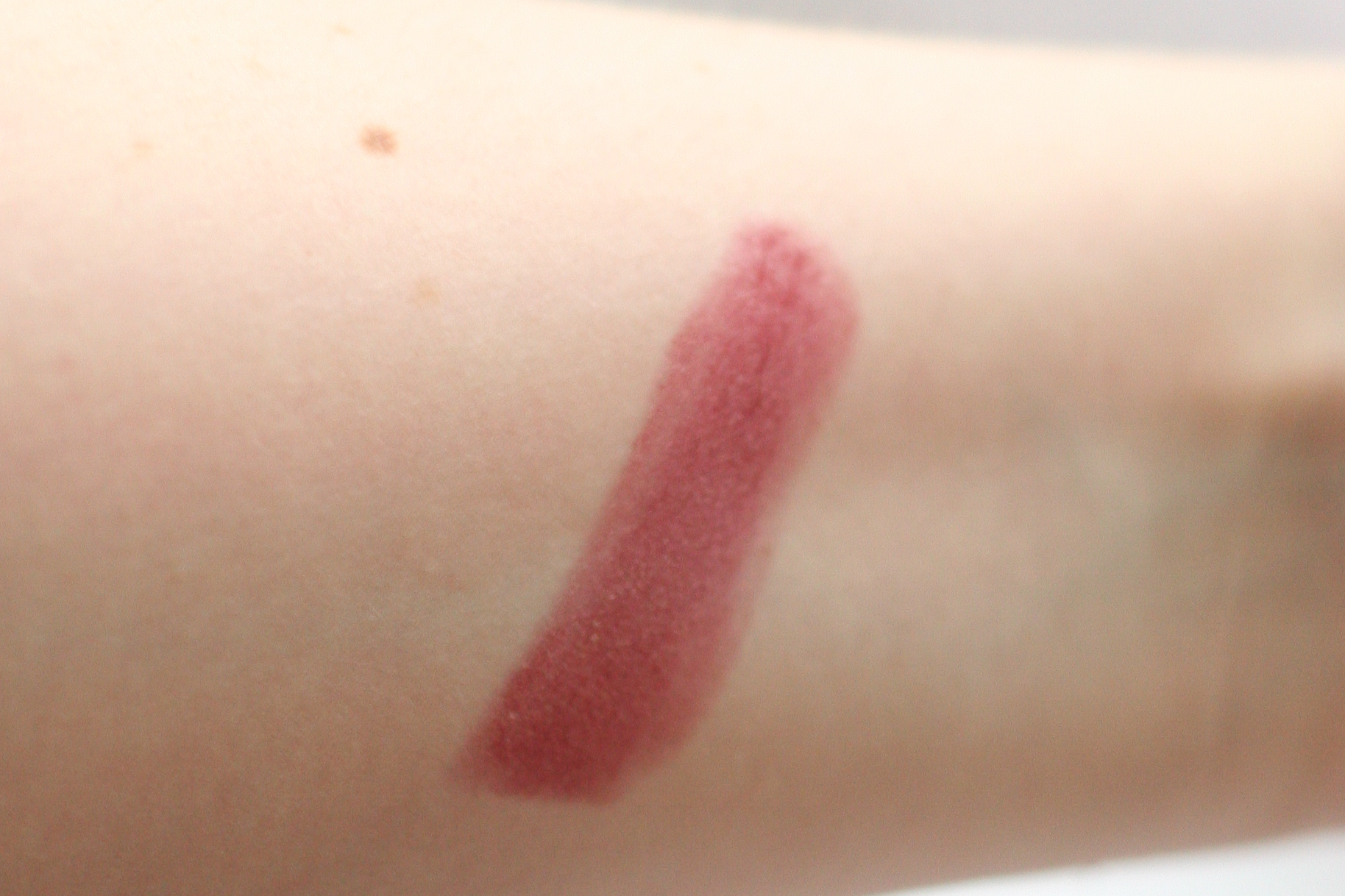 MAC lipstick in Capricious swatched.