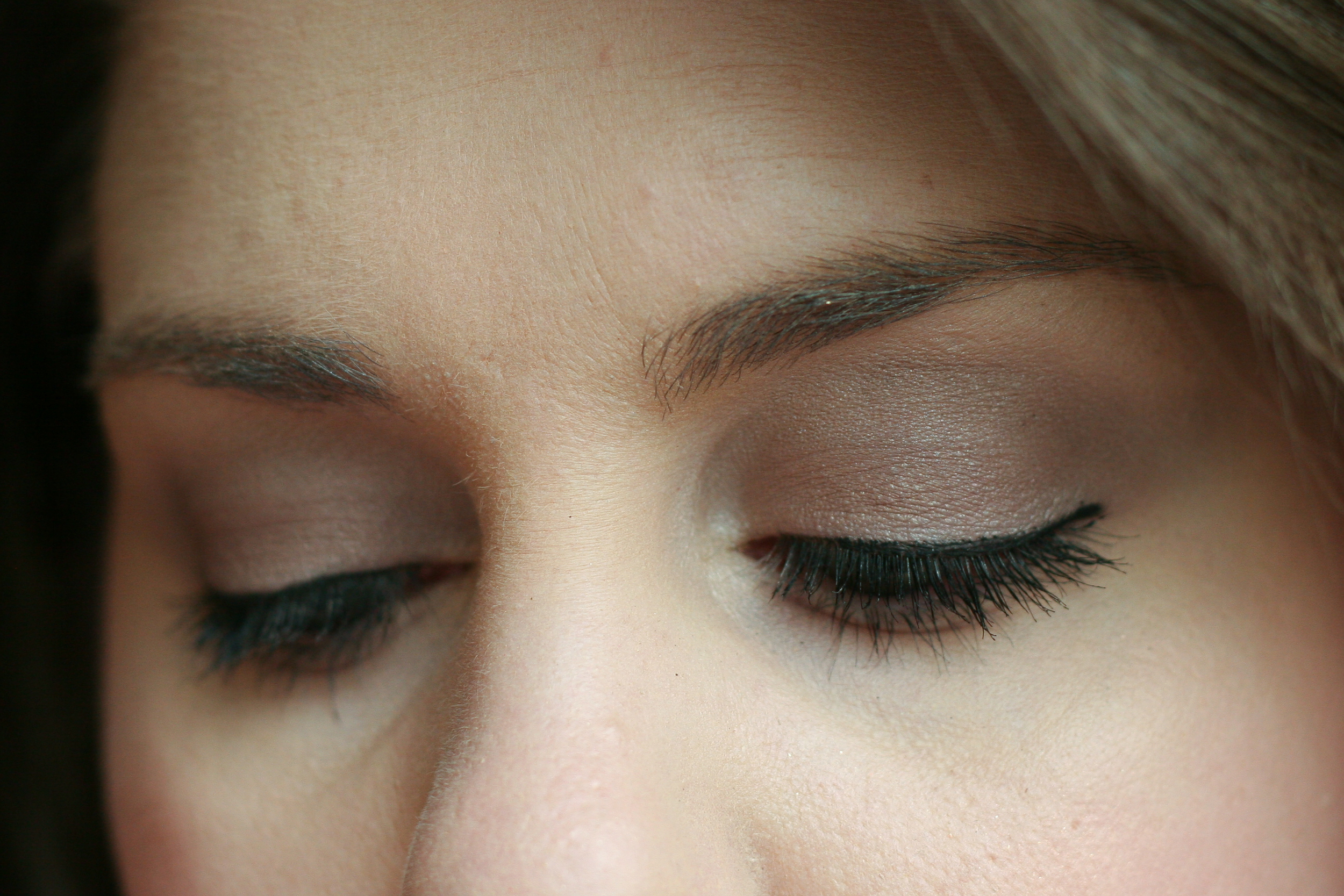 MAC Fluidline in Blacktrack on my upper lash line. (On my lids:  NYX eyeshadow in Iced Mocha .)