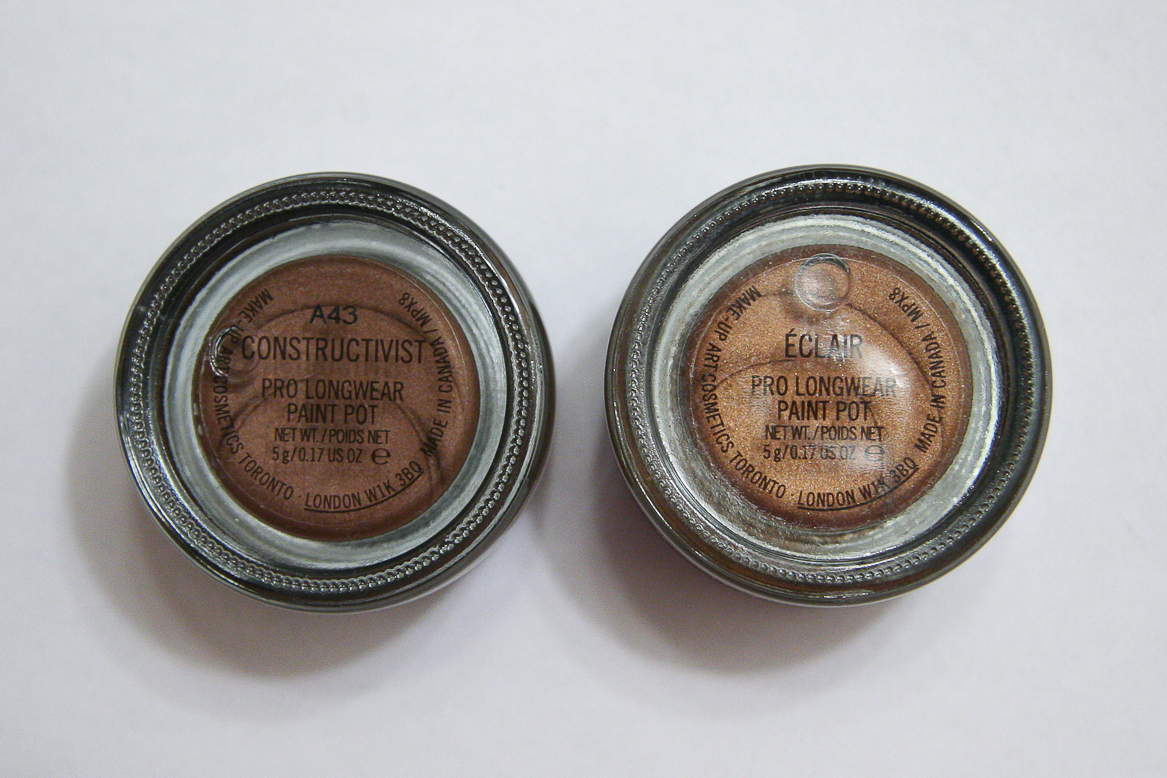 When I saw photos of Constructivist (left), it immediately reminded me of Eclair (right). As you can see, Eclair is quite a bit lighter and more coppery.