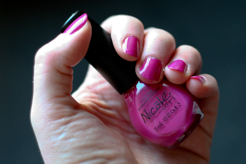Nails of the Day in Our Fuchsia's Lookin' Bright, a deep purple-pink from Nicole by OPI.