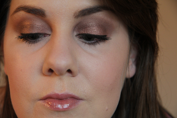 Here's a basic look with Rain Cloud applied all over the lid and into the crease. Note that I'm wearing it over Painterly.
