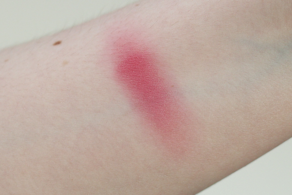 Lise Watier Imagine Blush swatched on my arm.