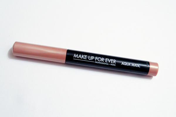 Make Up For Ever's new Aqua Matic Waterproof Glide-On Eyeshadow in S-52.