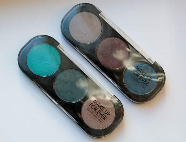 Make Up For Ever Artist Shadow palettes.