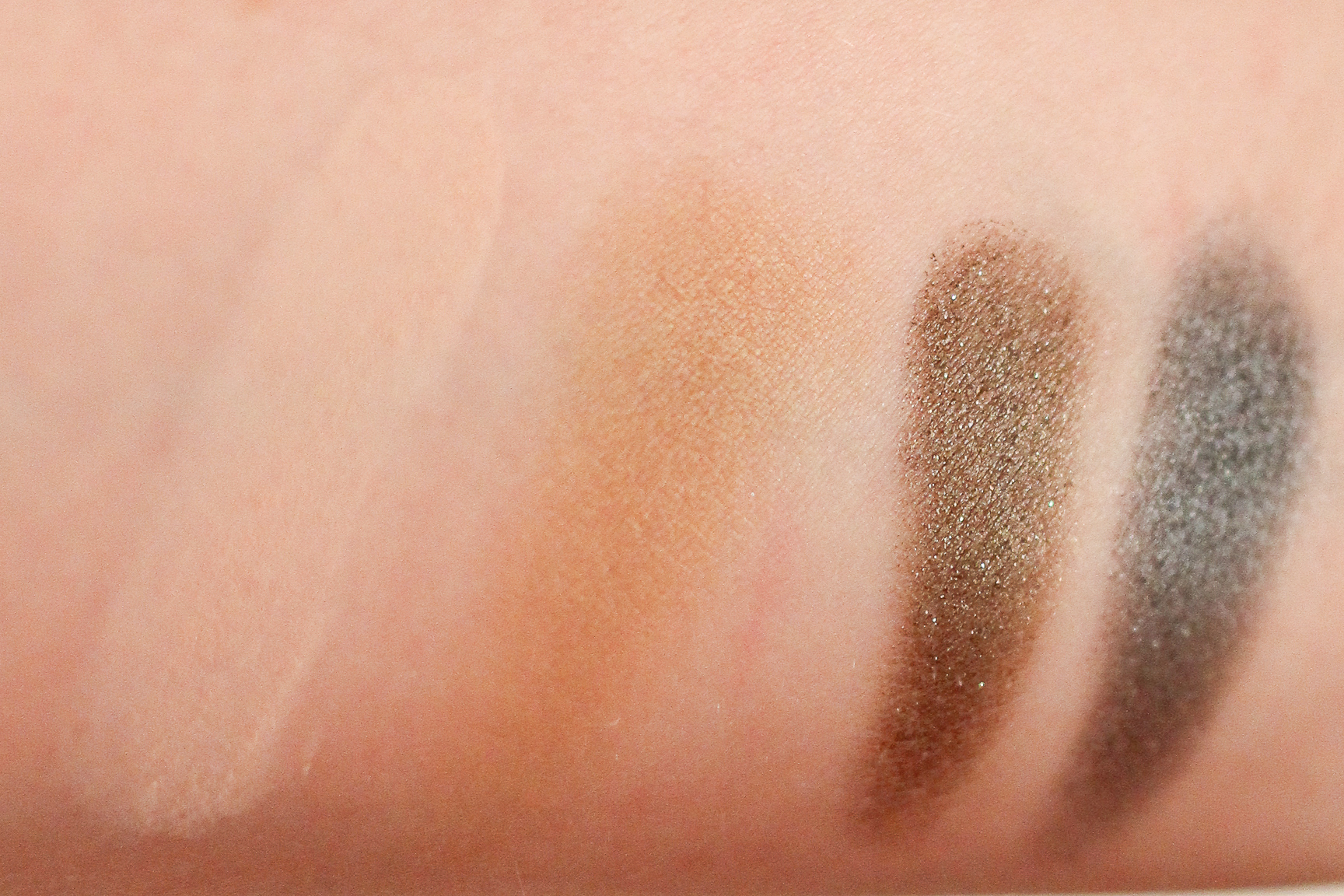 Left to right: Make Up For Ever Artist Shadows from the Janie Chung palette: M-532, S-642, D-320 and ME-108.