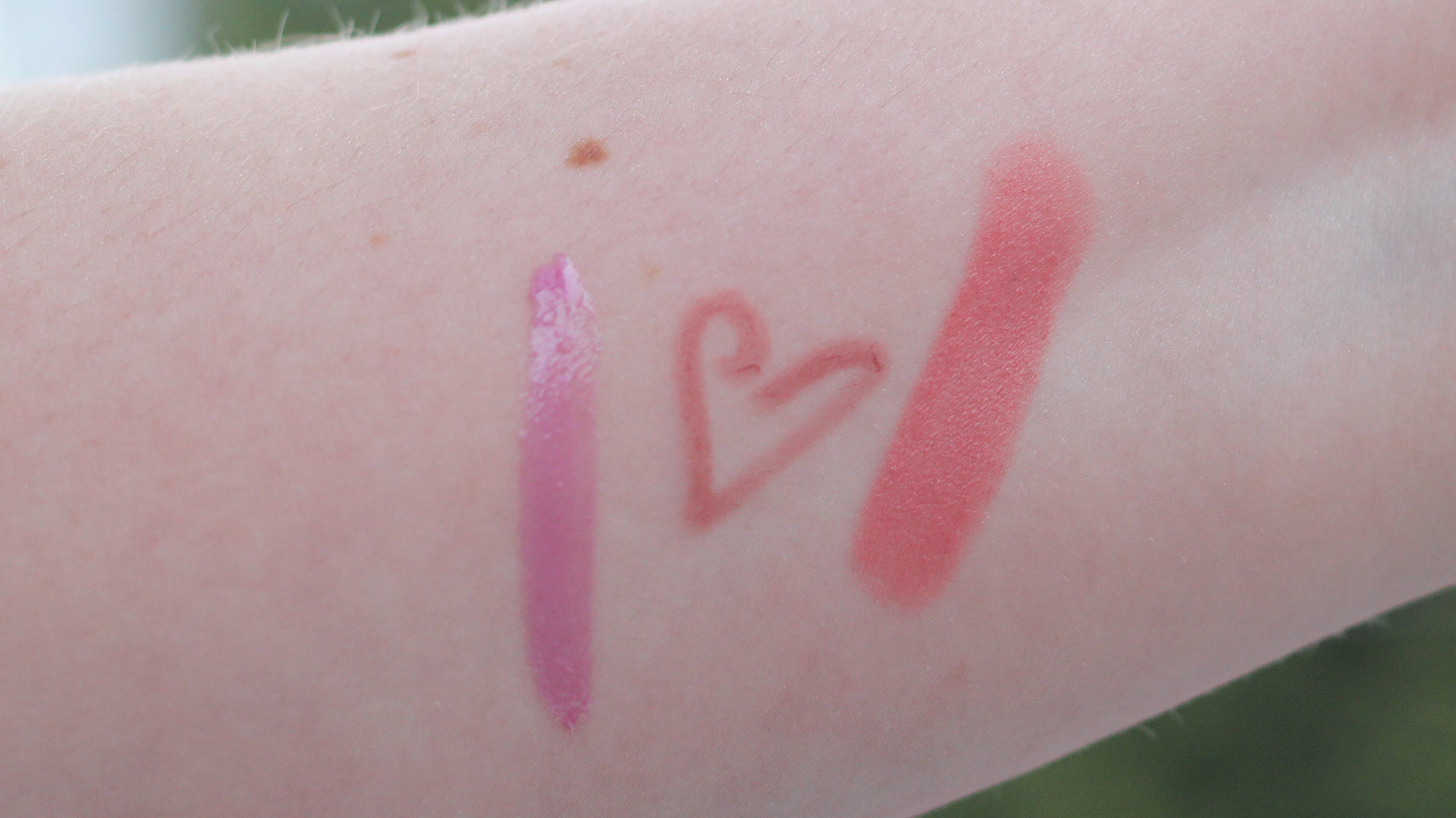 Left to right: Pink Steam, (Prim)rose, and Valentine.