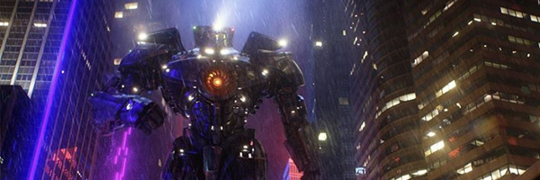 Rain, alien reptiles, and robots destroy the world in  Pacific Rim  - though can it really compete with  Gravity ? {Photo: WARNER BROS. PICTURES]