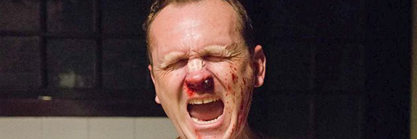 Pat Healy, encumbered by the loss of an appendage, in  Cheap Thrills  {Photo: DRAFTHOUSE FILMS}