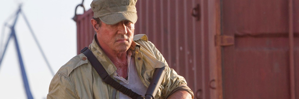 Sylvester Stallone's refined leathery features in  The Expendables 3  {Photo: LIONSGATE}