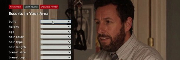 Adam Sandler, making a big mistake, in Jason Reitman's  Men, Women & Children  {Photo: PARAMOUNT PICTURES}