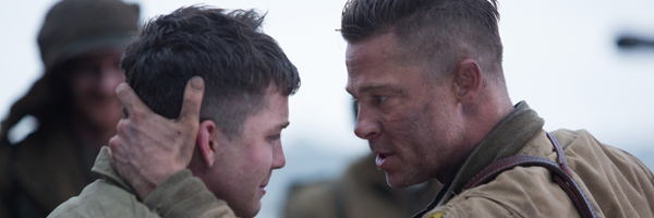 Logan Lerman and Brad Pitt in a scene from David Ayer's  Fury  {Photo: COLUMBIA PICTURES}