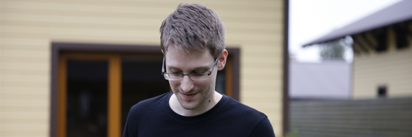 Edward Snowden in a scene from Laura Poitras'  Citizenfour  {Photo: RADIUS TWC}