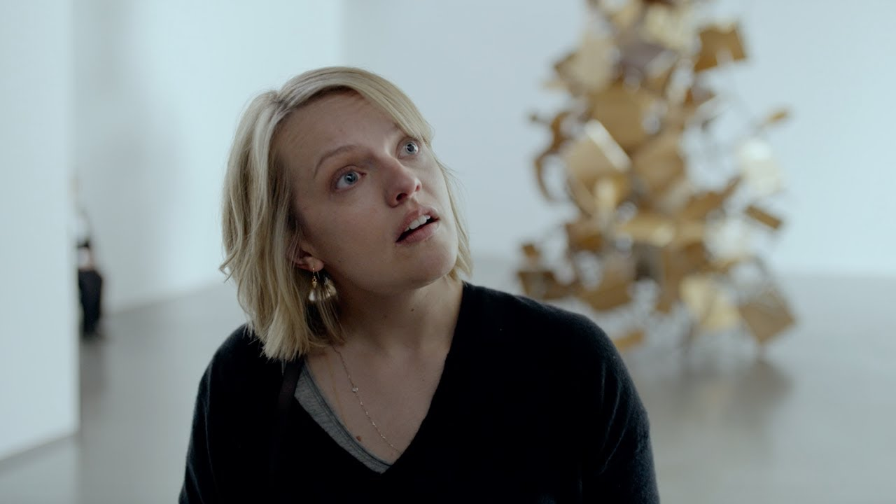 Elisabeth Moss in a scene from Ruben Ostlund's  The Square  {Photo: MAGNOLIA PICTURES}
