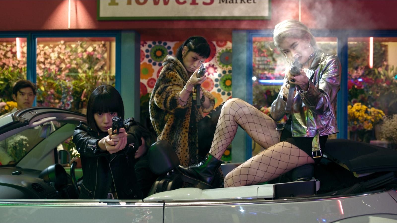 A scene from Sion Sono's  Tokyo Vampire Hotel  {Photo: AMAZON PRIME VIDEO}