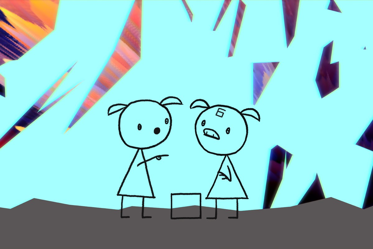 A scene from Don Hertzfeldt's  World of Tomorrow Episode Two: The Burden of Other People's Thoughts  {Photo: BITTER FILMS}