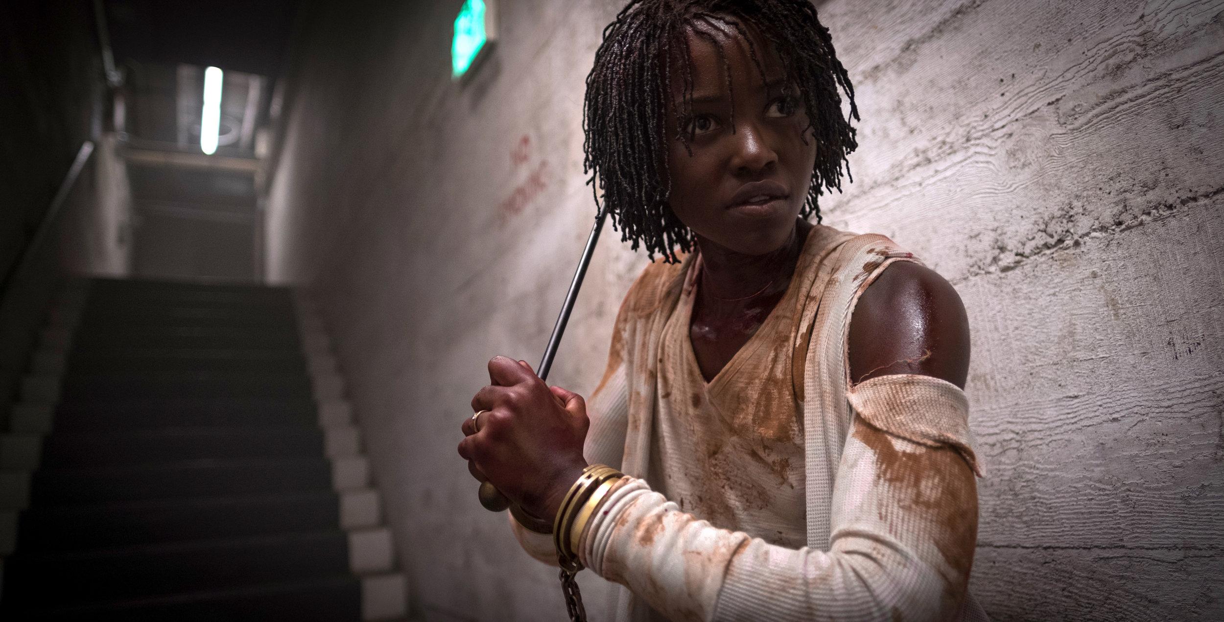 Lupita Nyong'o in a scene from Jordan Peele's  Us  {Photo: Universal}