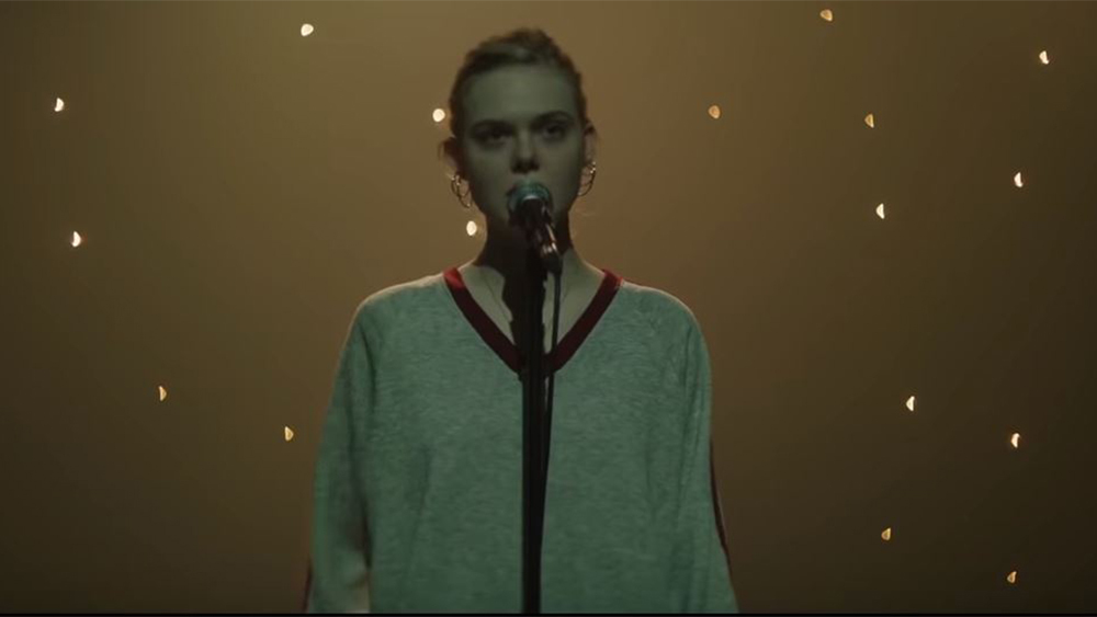 Elle Fanning in a scene from Max Minghella's  Teen Spirit  {Photo: AMAZON STUDIOS}