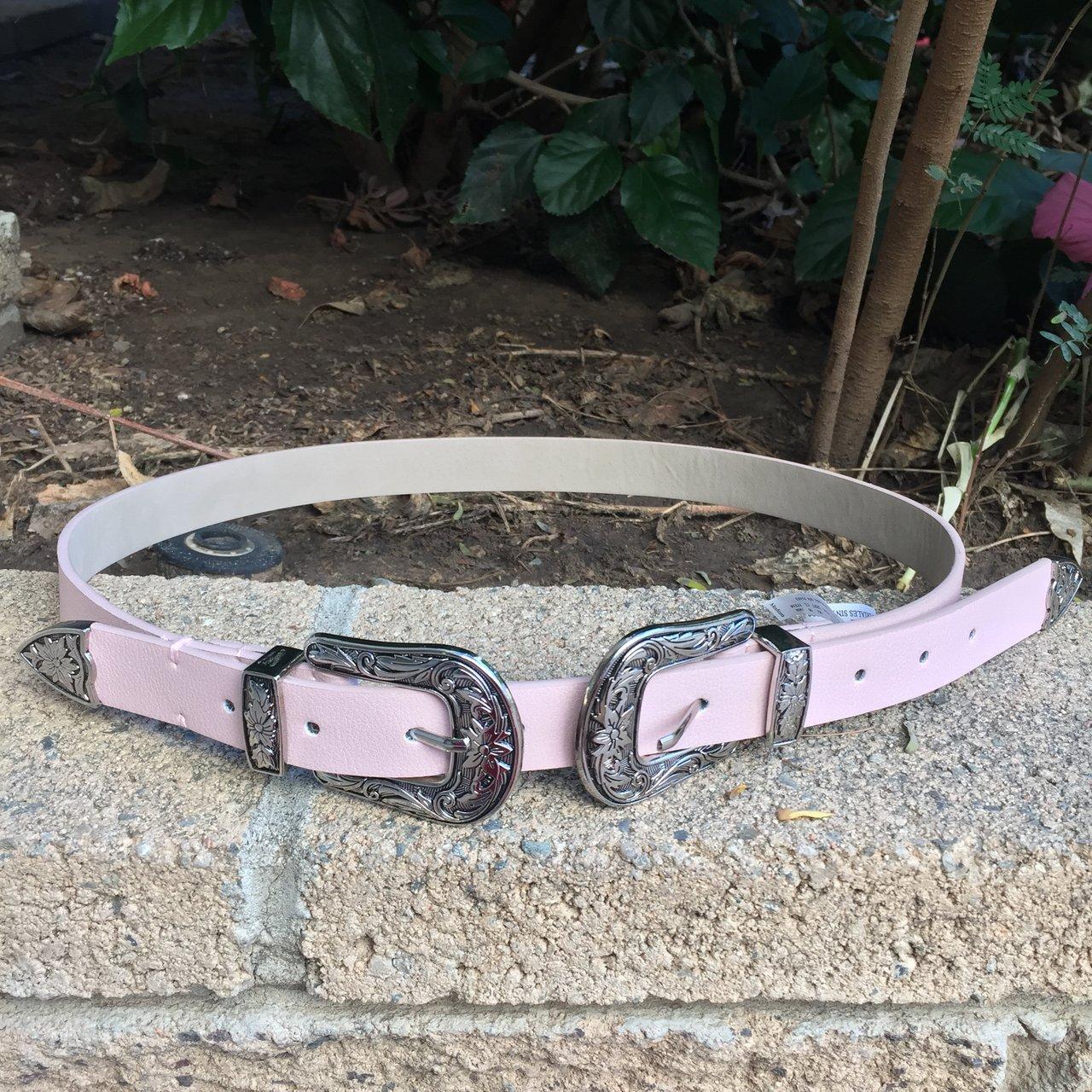 pink belt, $10 on depop