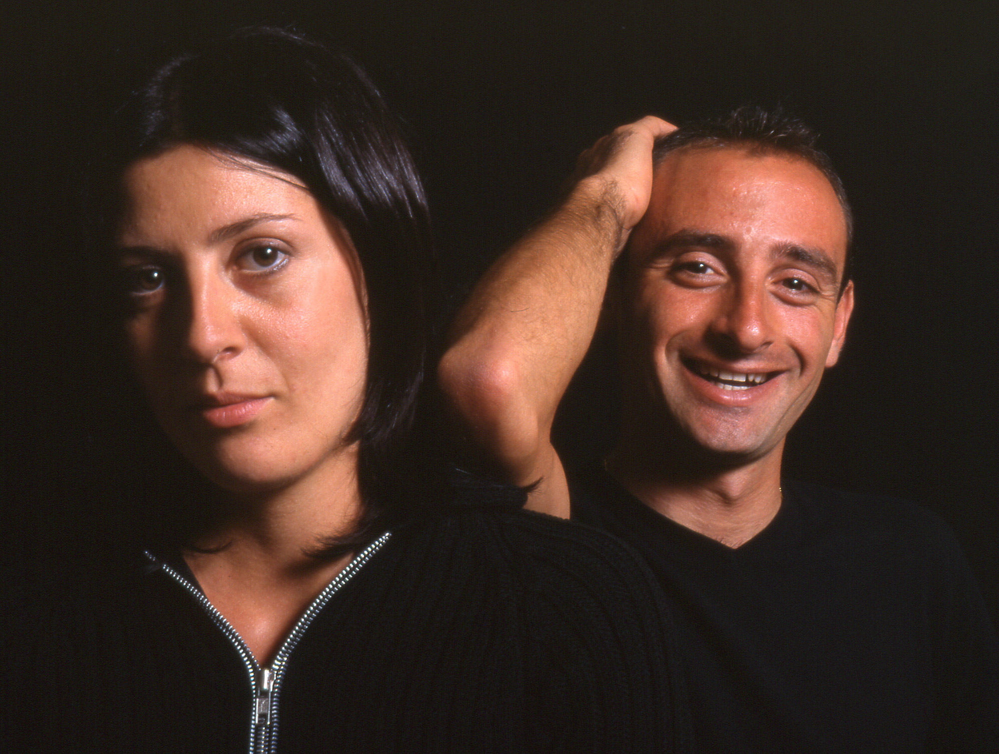 Paolo Bettini with his wife Monica