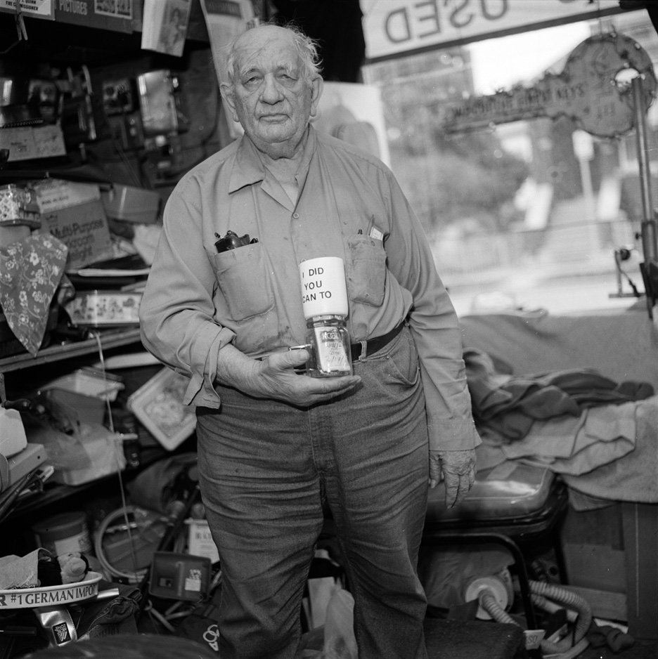 Ed Wohel and his last cigarette, Chicago Illinois