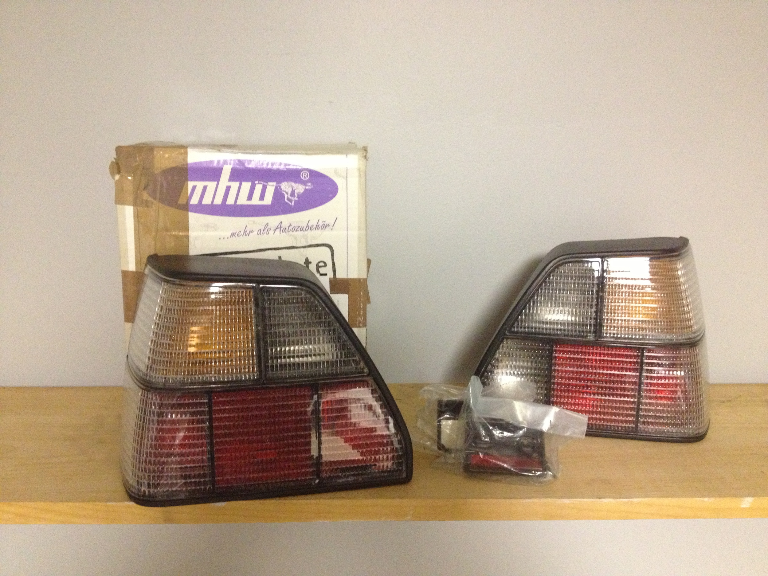 NOS mhw MK2 clear tail lights