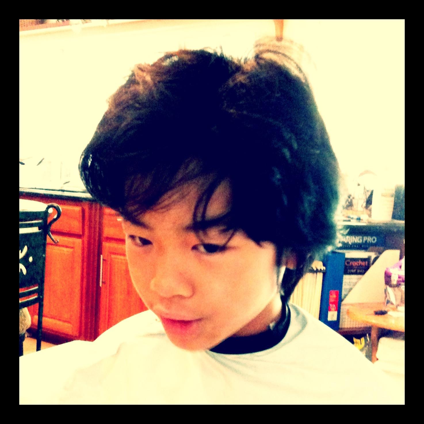 Haircut for the boy.
