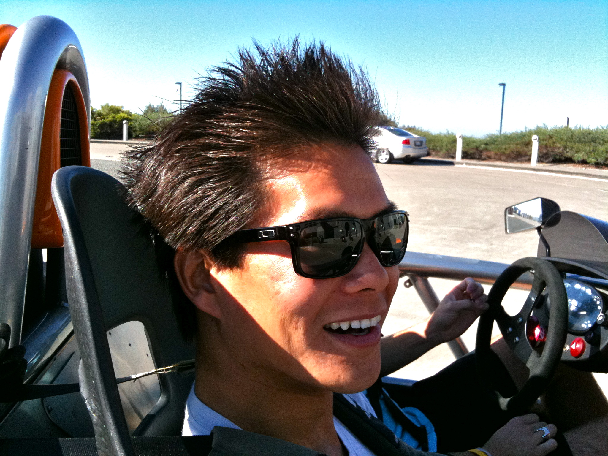 This is what happened to @nthuwirat's hair after a quick ride in an Ariel Atom.