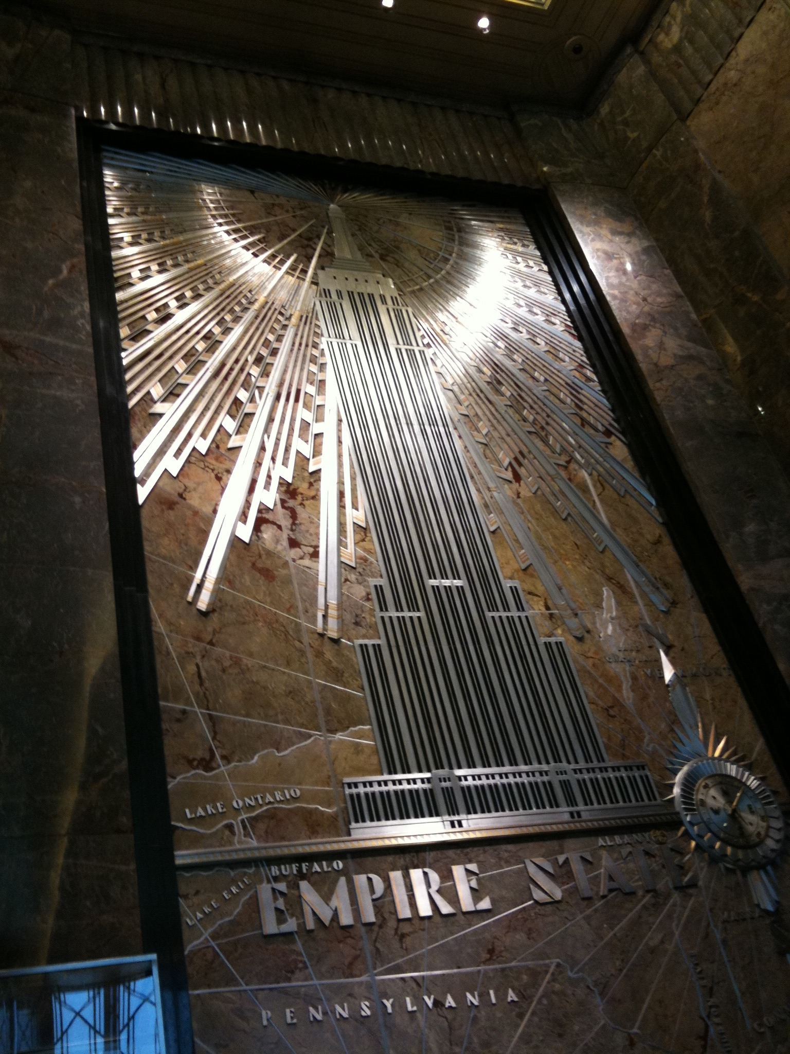 Had 90 min to kill before heading to airport so I took some pics at the top of the Empire State building.