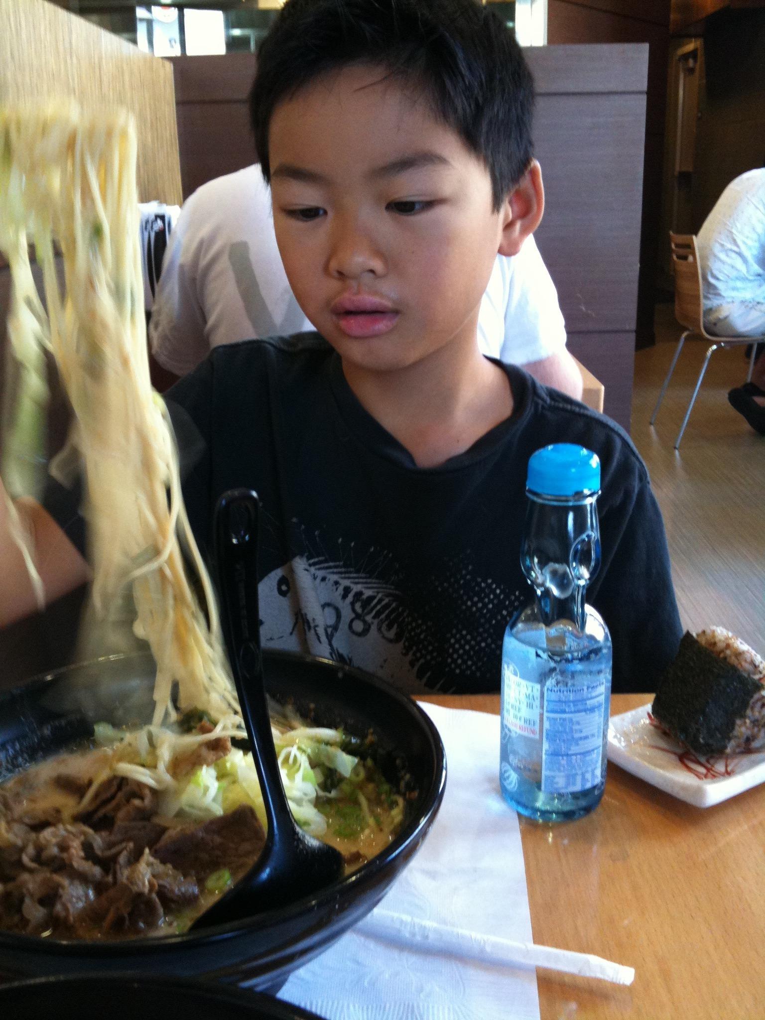 A boy and his Ramen.