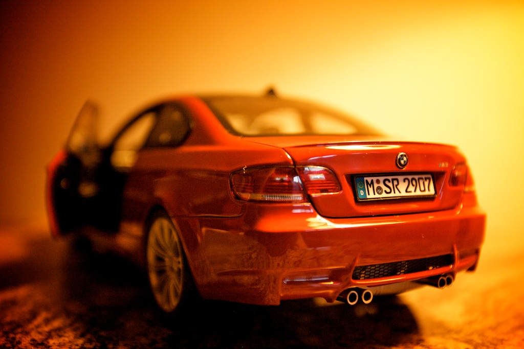 The boy wanted shots of his new die cast M3 so I took a few in the hotel.