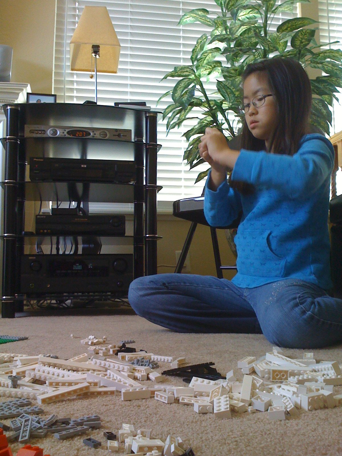 Finally got the Nintendos put away and onto more educational activities. Lego time!