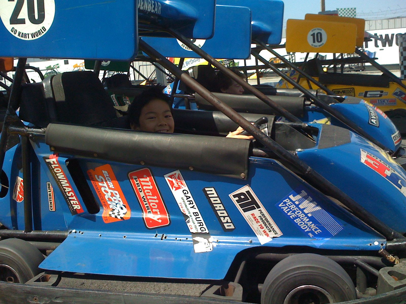 """The boy finally gets to drive his own """"fast"""" go kart"""
