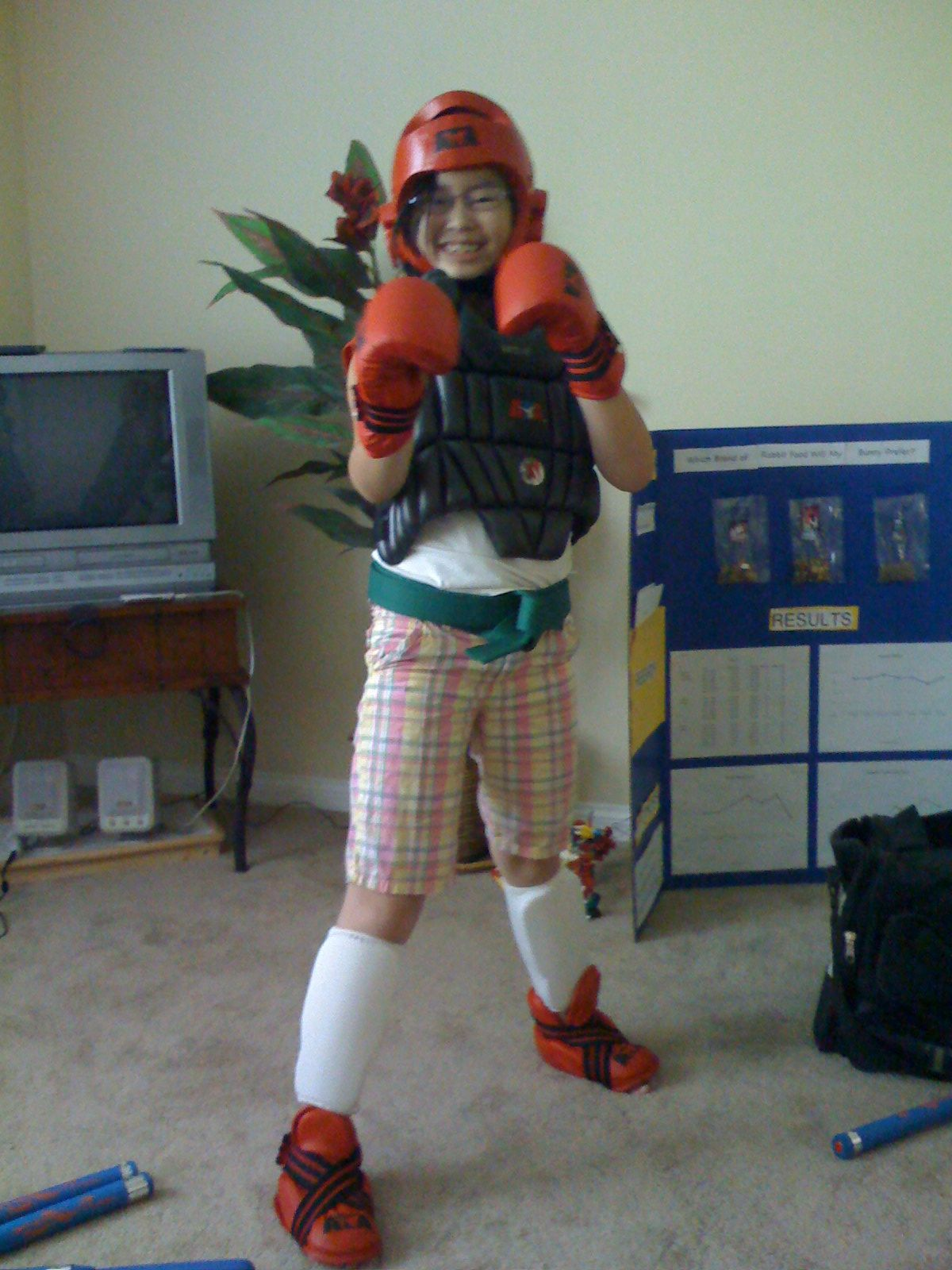 Whipped out the Taekwondo gear for a little exercise