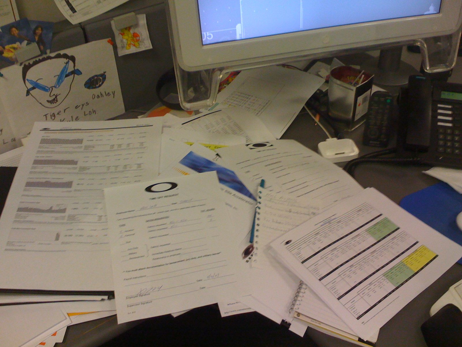 Really need to clean my desk. It's a disaster area