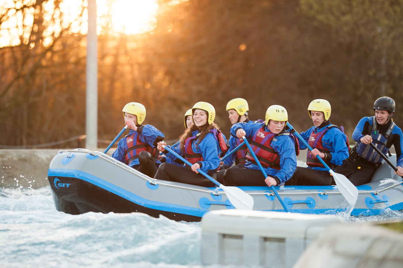 White Water Rafting, at the Olympic 2012 Lee Valley Centre, is a great hit and brilliant fun to shoot...