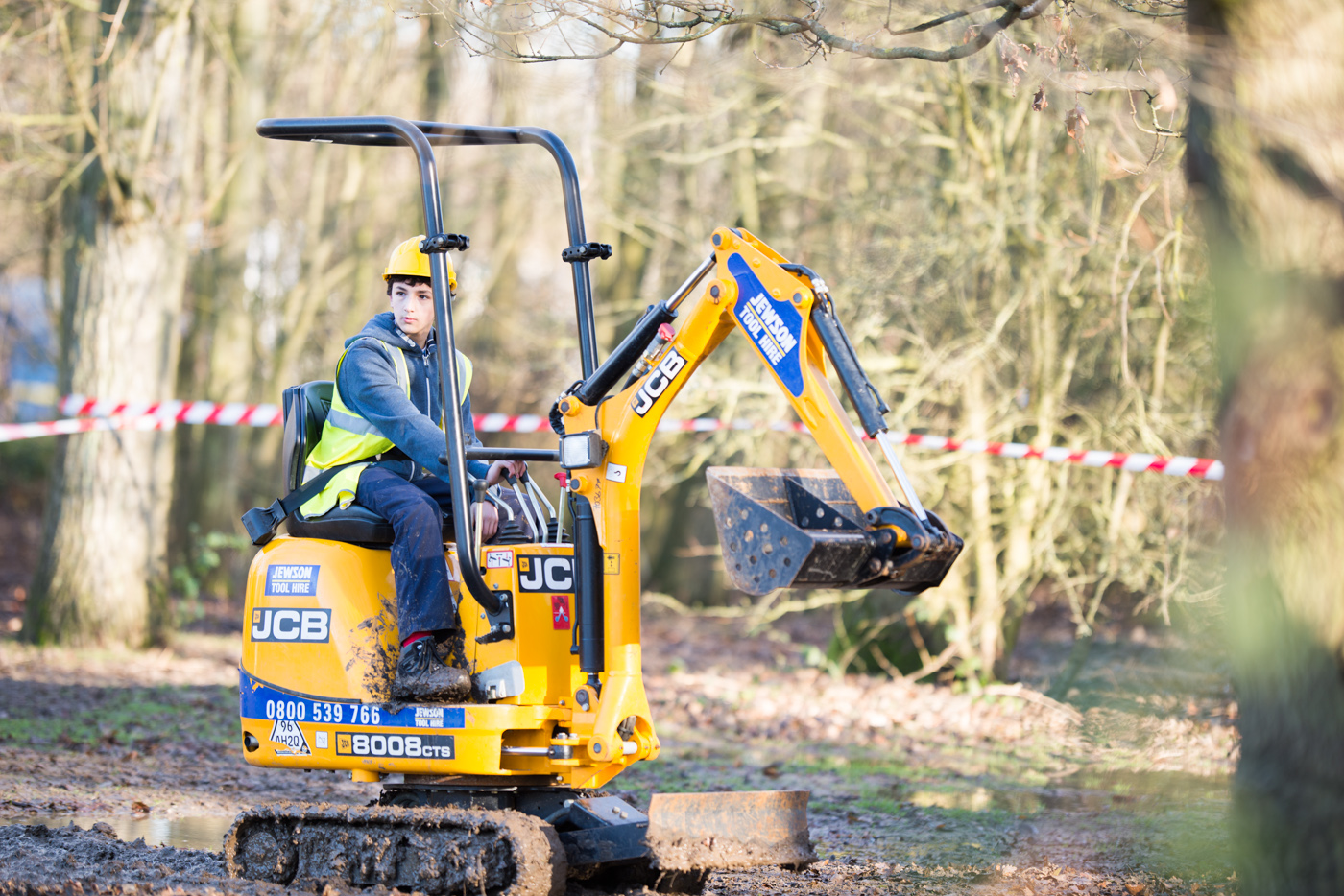 Digger driving appealed to the 5-year-old inside everyone!