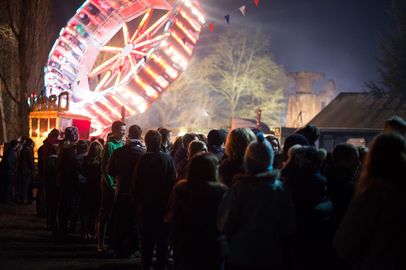 Dodgems, a waltzer and other fairground rides were a big hit...