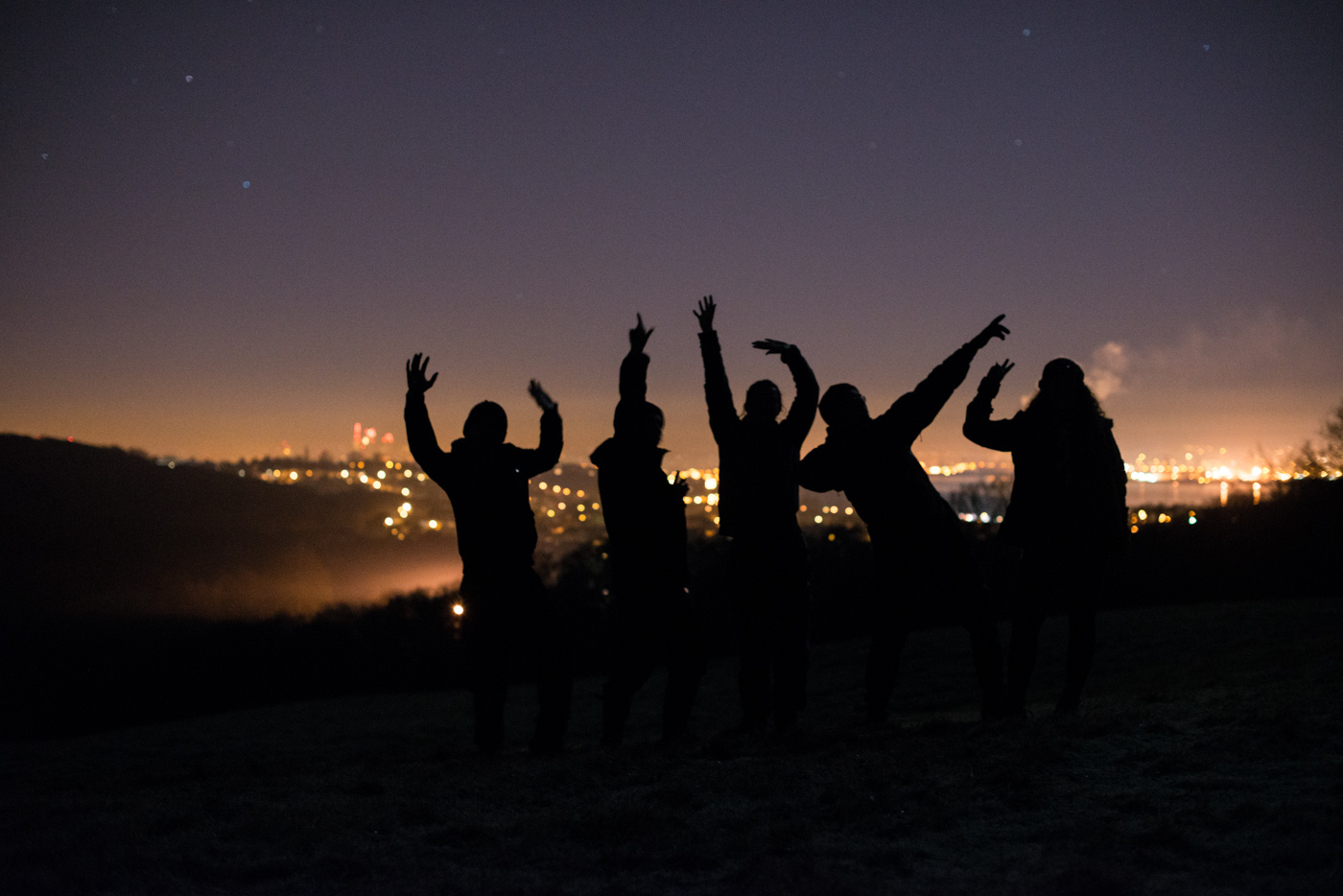 Late Saturday night with a few of my explorers, we went for a little wander to 'the secret view'. On the left, you can see the Shard. This hill is pretty amazing.
